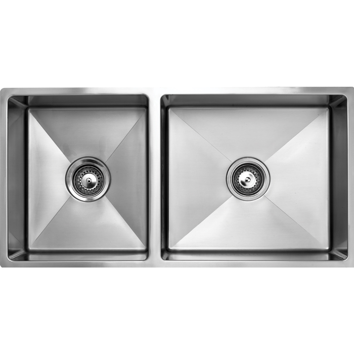 1 and 3qtr Bowl Undermount Satin 36 and 27 litres